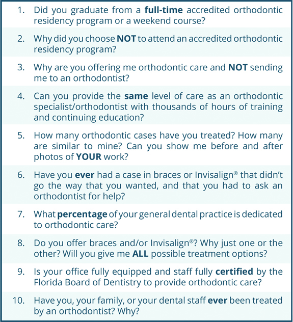 Why an Orthodontist is the Right Choice - Steven M. Guelff, DMD ...